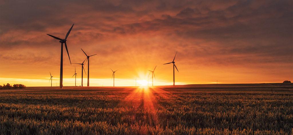 Windräder Strom Sonne Natur